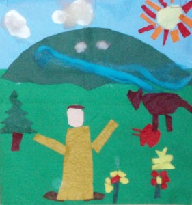 felt collage depicting St Francis